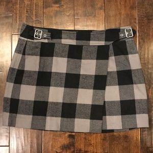 GAP Plaid Wrap Skirt